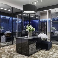 Luxury Closet Design & High End Closet Systems Bedroom Closet Storage, Master Bedroom Closet, Walk In Closet Design, Closet Designs, Master Closet Design, Closet Mirror, Closet Island, Black Closet, Sliding Closet Doors
