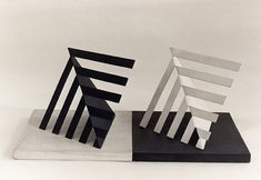 Luiz Sacilotto Paper Architecture, Museum Of Fine Arts, Abstract Pattern, Painting On Wood, Cube, Arts And Crafts, Inspiring Pictures, Sculpture, Black And White