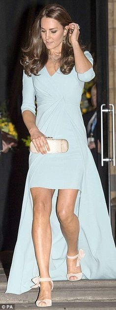 Style queen: Kate steps out showing off more leg