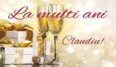 La mulți ani și multă sănătate Claudiu! - Felicitari de la multi ani pentru Claudiu - mesajeurarifelicitari.com Flute, Wine Glass, Diy And Crafts, Alcoholic Drinks, Champagne, Tableware, Sf, Google, Happy