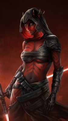 "cyberclays: ""Sister of Darth Maul - Star Wars fan art by István Dányi ""This character is not a part of the official (and extended) Star Wars universe. Star Wars Fan Art, Star Wars Mädchen, Star Wars Girls, Darth Maul Wallpaper, Star Wars Zeichnungen, Starwars, Miss Hulk, Mode Poster, Art Manga"