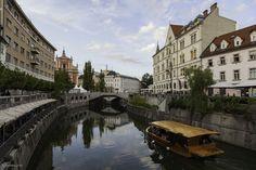 Ljubljanica River, Ljubljana, Slovenia, Europe, European Union