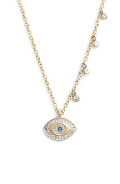 MeiraT 'Evil Eye' Diamond Pendant Necklace
