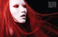 Danni Li for ROUGE Magazine. Yuka Washizu makeup & Diego Americo stylist, photographed by Henrique Gendre