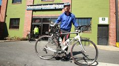 Bert Bergdoll and his new Domane. Another new bike and a great smile to match.