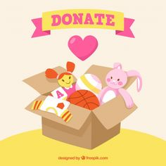 Toy box for donation background Free Vector Box Icon, Vector Photo, Backgrounds Free, Toy Boxes, Badge, Diy And Crafts, Branding, Volunteers Needed, Logos
