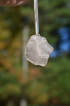 Pale Pink Sea Glass Sterling Silver Necklace