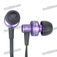 AWEI ES900i Stylish In-Ear Earphone w/ Microphone for Iphone 4 - Purple (3.5mm-Plug / 125cm-Cable)