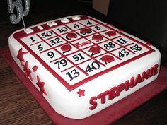 Bingo Cake Cake Ideas and Designs Bingo Cake, Bingo Party, 90th Birthday Parties, Birthday Ideas, 60 Birthday, Vegas Party, Casino Party, Casino Theme, Mom Cake