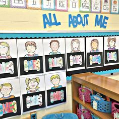 All About Me Project: It makes a stunning Back to School Night bulletin board display and the parents just LOVE LOVE LOVE it!!!