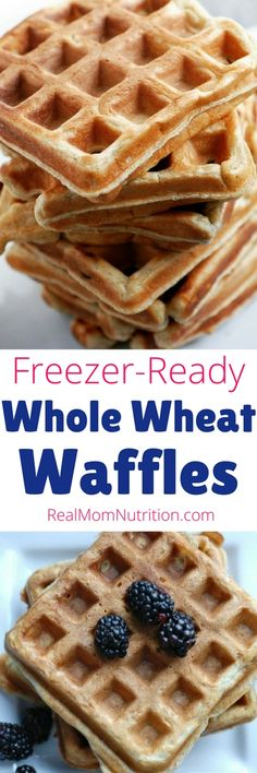 Freezer-Friendly Whole Wheat Waffles: Make ahead for busy mornings! via @https://www.pinterest.com/rmnutrition/