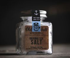 Design / Sea salt packaging — Designspiration