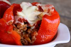 Spicy Italian Stuffed Bell Peppers recipe by Barefeet In The Kitchen