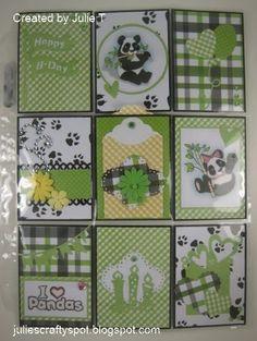 Julie's Crafty Spot: Panda Theme Pocket Letter