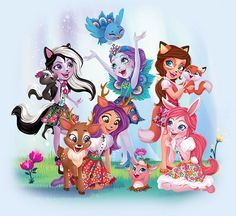 Enchantimals dolls are a group of lovable girls who have a special bond with their animal friends, and even share some of the same characteristics. Shoppies Dolls, Custom Barbie, Homemade Stickers, Girls Birthday Party Themes, Pet Paws, Beautiful Fairies, High Art, Barbie World, Toys For Girls
