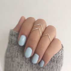 Chevron ring - Silver Knuckle Ring set of 3 Chevrons, stacking ring set of Above knuckle chevron rings, midi ring set of v shaped rings, chevron rings – Chevron ring Chevron Ring, Chevron Letter, Gold Chevron, Bijoux Design, Jewelry Design, Cute Jewelry, Jewelry Rings, Jewlery, Jewellery Box