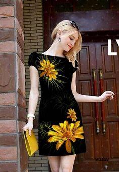 Đầm Suông In Hoa 3D EKV_VD218 - Giá 285.000đ