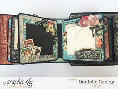 Boxed mini album using Graphic 45 Mixed Media Box and Raining Cats and Dogs