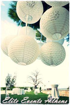 Eyelet lanterns at a Wedding Party #wedding #party