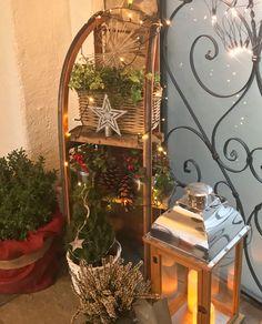 Schlittendeko - Weihnachtsdeko Balkon - New Ideas Luge, Winter Girl, Winter Snow, Halloween, Land Scape, Ladder Decor, Diy And Crafts, Christmas Decorations, Xmas