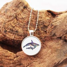 Orca Necklace, Killer Whale Necklace, Orca Pendant, Orca Jewelry, Killer Whale Jewelry, Painted Orcas, Nature Necklace