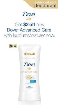 The Best Care Ever for the Armpit $$ Save $2 on Dove Advanced Care Deodorant at Walmart! 3/27