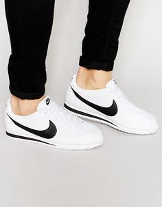 138f99985dc Nike Cortez leather trainers in white 749571-100