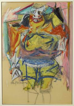 1 Willem de Kooning (1904-1997) was een in Nederland geboren kunstschilder, die een groot deel van zijn leven in de Verenigde Staten heeft gewoond. De werken van De Kooning worden gerekend tot het abstract expressionisme. Andere schilders in deze kunstbeweging, die in dezelfde tijd schilderden als De Kooning, waren Jackson Pollock, Mark Rothko, Barnett Newman en Clyfford Still. -1954