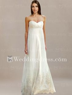 Elegant Informal Strapless Empire Waist Bridal Gown BC112