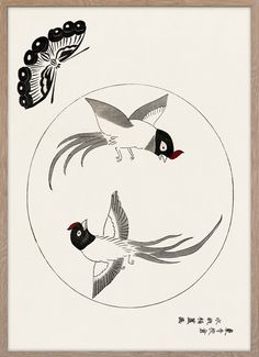 Birds and butterfly – Paper Ministry