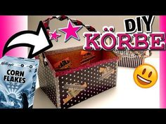 DIY AUFBEWAHRUNG / KÖRBE / DESK ORGANIZATION / Back to school - YouTube Corn Flakes, Organizer, Youtube, Projects, Youtubers, Youtube Movies