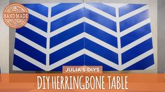 DIY Painted Herringbone Table - HGTV Handmade