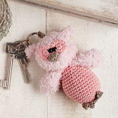 Mini uil Anna de sleutelhanger uit het blad Aan de haak 6 #haken #haakpatroon #gehaakt #amigurumi #knuffel #gehaakt #crochet #häkeln #cutedutch