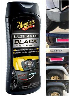 Meguiar's Ultimate Black Plastic Restorer for sale online Best Car Glass Cleaner, Best Car Window Cleaner, Plastic Restorer, Windshield Cleaner, Car Wash Soap, Mobile Car Wash, Waxing Tips, How To Clean Headlights, Car Fix