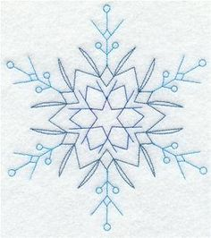 Snowflake Embroidered Flour sack towel pair by PeriwynklePlace, $15.00