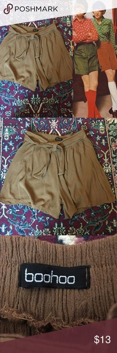 70s High Waisted Flowy Shorts High Waisted Flowy Shorts! Bought from another posher & didn't like the color on my skin tone. In perfect condition - no rips, stains, or holes. Fits true to size. Feel free to ask any questions! Open to reasonable offers :) 🔴15% OFF 2+ BUNDLES🔴 Vintage Shorts