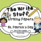 Happy St. Patrick's Day! This is a set of FREE writing papers and prompts to use  for St. Patrick's Day.  There are three prompts to choose from an...