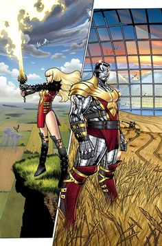 Magik & Colossus by Olivier Coipel *