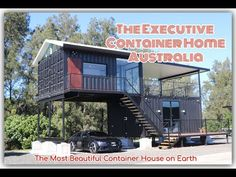 The most beautiful container house on Earth. ( The Executive Container H. Building A Container Home, Container Buildings, Container House Plans, Container House Design, Shed To Tiny House, Modern Tiny House, 40ft Shipping Container, Container Homes Australia, Hacienda Style Homes