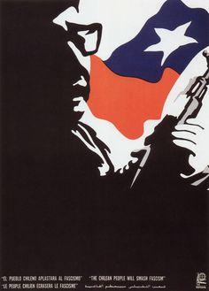 designed by Ernesto Garcia Peña, 1 9 7 silk screen poster, Cuba. High Contrast Photography, Graphic Prints, Poster Prints, Shape Collage, Propaganda Art, Political Posters, Illustration, Grafik Design, Vintage Ads