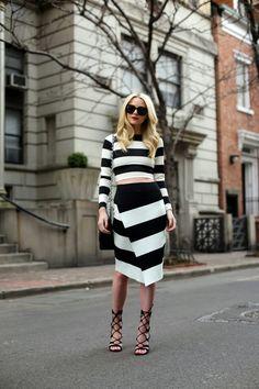Stripes + stripes por Camila Coutinho em abril 21, 2014