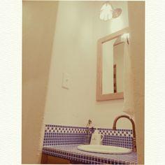 TILE タイル「FIORETTI(フィオレッティ)」///// cotoriさんの、漆喰壁,名古屋モザイク,小さいおうち,フィオレッティ,陶器ボトル,バス/トイレ,のお部屋写真