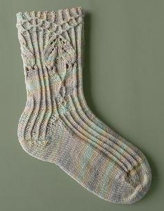beautiful handknit sock pattern.