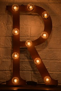 custom metal letter lights letter r by marqueemomma on etsy httpswww