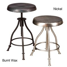 Iron Swivel Stool (India) | Overstock.com Shopping - The Best Deals on Bar Stools