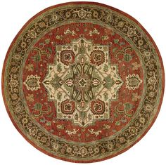 A world of sumptuous grandeur is captured within the borders of this eye-filling Persian design. A large center medallion holds court in multi-faceted brilliance upon a ground of royal red! Available at Rug & Home! Royal Red, Nebraska Furniture Mart, Round Area Rugs, Baby Clothes Shops, Jaipur, Rug Size, Oriental, Antiques, Handmade