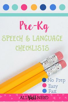 Kindergarten speech and language checklists are a perfect starting point for teacher concerns. Check them out in my TpT store! Speech Therapy Activities, Language Activities, Classroom Activities, Receptive Language, Speech And Language, Language Arts, Beginning Of The School Year, Teaching Resources, Teaching Ideas