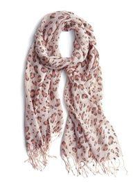 pink leopard print scarf