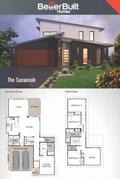 The Savannah: Double Storey House Design #BetterBuilt #floorplans