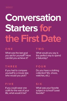 1st date conversation topics